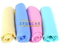 Wholesale furniture cars - 10Pcs Lot Super Absorption Synthetic Chamois Car Glass Wash Cloth Leather Furniture Dry Specialty Cleaning Towel Free shipping