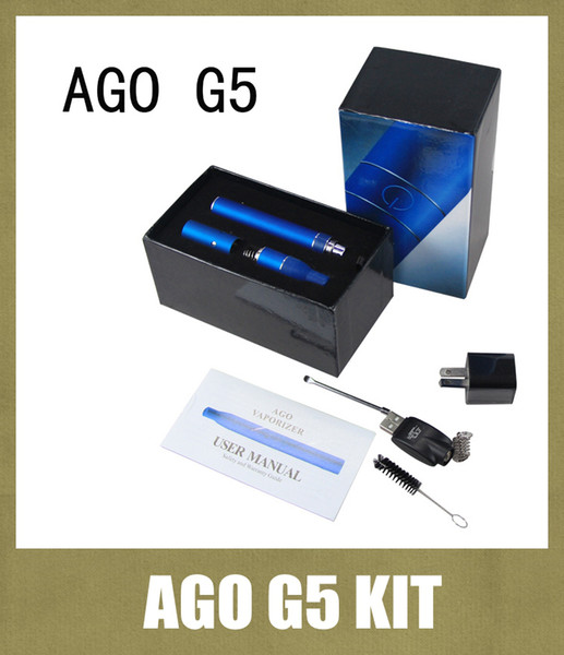 Ago G5 Dry Herb Vaporizer Pen Vapor Electronic Cigarettes Kits Dry Herb Atomizer LCD Display Ago G5 Pen E Cigarette Various Colors TZ010
