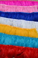 laranja penas ganso venda por atacado-Frete grátis branco orange hot pink luz rosa roxo roxo azul turquesa preto vermelho amarelo verde limão pena de ganso franja de 10 metros de guarnição