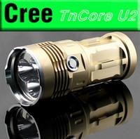 linterna u2 al por mayor-Super Bright 4000 lúmenes 3 x CREE XM U2 Lámpara LED 3 modos Fuente de alimentación linterna 1/2/3/4 x 18650 batería de 3.7v para actividades interiores / exteriores