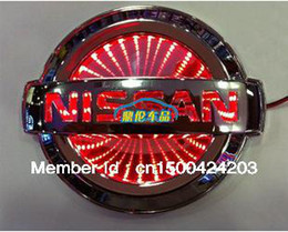 Wholesale Car Emblem Lights - New Blue 3D LED Car Decal Logo Light Badge Lamp Emblem Sticker for Nissan Free Shipping