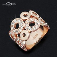 Wholesale Pave Cz Sale - Hot Sale AAA+CZ Diamond Stone Inlaid Party Rings 18K Rose Gold Plated Vintage Wedding Jewelry Crystal For Women anel Wholesale DFR003