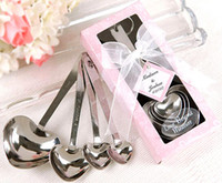 Wholesale Heart Shaped Spoons Wholesale - Heart-Shaped Measuring Spoons in Gift Box wedding giveaway centerpieces souvenir accessories supplies party