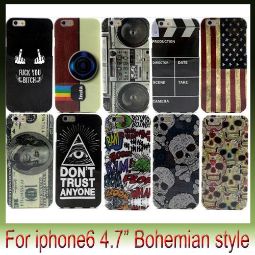 Vintage American Flag IMD mobile phone shell Bohemian style cover cases For Apple iPhone6 6G iPhone 6 plus 4.7 5.5 inch