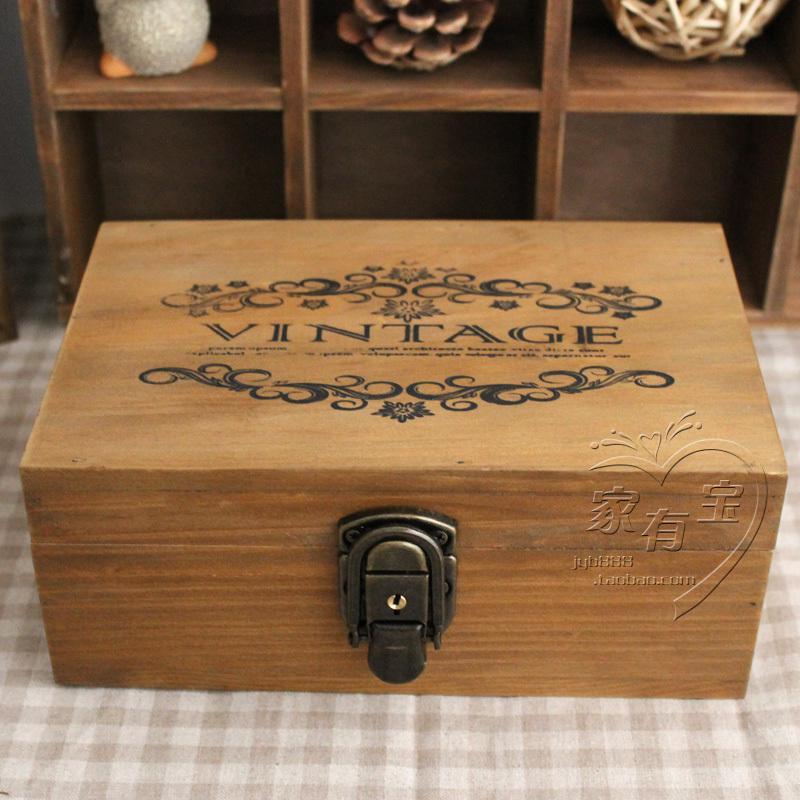 2018 Zakka Vintage Wool Solid Wood Lockable Storage Small Wooden Box  Jewelry Box Storage Box Tool Box From Linco812, $43.28 | Dhgate.Com