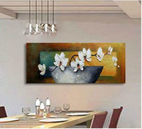 Wholesale Textured Artwork - Flower Art Modern Palette Knife Painting 100% hand made Free shipping Home Decor artwork textured Oil Painting On Canvas