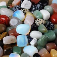 gelbe saphirsteine großhandel-Sortierter Trommelstein-Kristall-Achat-Aventurin-Obsidian-Jade-Jaspis Heilung von Reiki-Chakra-Poliert-Beutel TB001