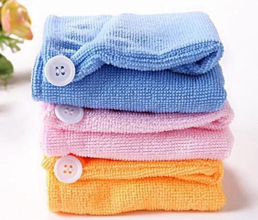 2014 Hot Sales Microfiber Magic Hair Dry Drying Turban Wrap Towel Long-haired Ultrafine Super Absorbent Fiber Hat Dry Hair Towel