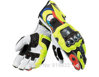 Wholesale Off Road Gps - 2015 Top Motorcycle dennis titanium alloy MOTO GP racing gloves Cycling MTB DH ATV Off road VR46 leather gloves Free shipping