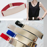 Belts black metal apparel - 2014 new arrival Europe America gold metal mirror face belts for sexy women fashion Apparel Accessories QW089 belts for women