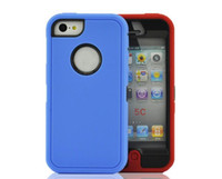 Wholesale Iphone 5c Tpu Case Screen - Wholesale - Hybrid rugged 3 in 1 robot case TPU + hard PC heavy duty back cover with front screen for Iphone 4 4s iphone5 5s 5c