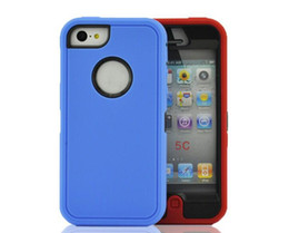Wholesale Iphone 5c Back Case - Wholesale - Hybrid rugged 3 in 1 robot case TPU + hard PC heavy duty back cover with front screen for Iphone 4 4s iphone5 5s 5c