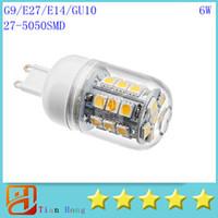 Wholesale E14 Led Smd Small - Led small Corn Light G9 E27 E14 GU10 27LED 5050SMD Led Light 110V-240V Led Bulbs