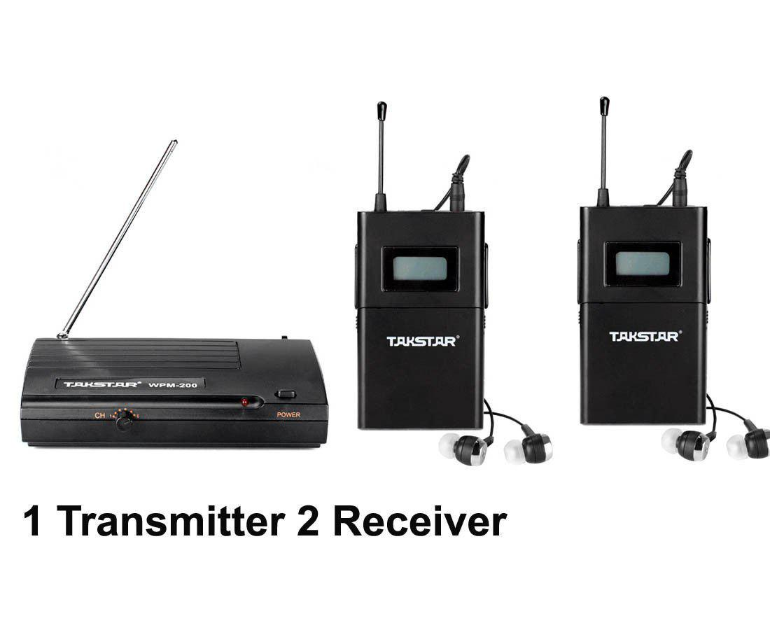 Ursprüngliche NEUE Wpm-200 Wireless Monitor System In-Ear Sender Sterem 1 Sender 2 Empfänger Bühne Wireless Monitor System kostenloser versand