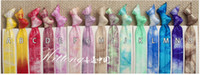 Wholesale Handmade Hair Holder - Knotted Fold Over Elastic Ribbon Hair Ties Wristbands For Girl Ponytail Holder Colorful Handmade Hair Accessories