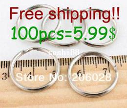 Wholesale Wholesale Split Ring Key Chain - 5.99$=100pcs Dia.20MM Metal Keyring Nickle Plated Split Key Rings Findings Round Keychain & Key Rings Fit Key Chain Little Size
