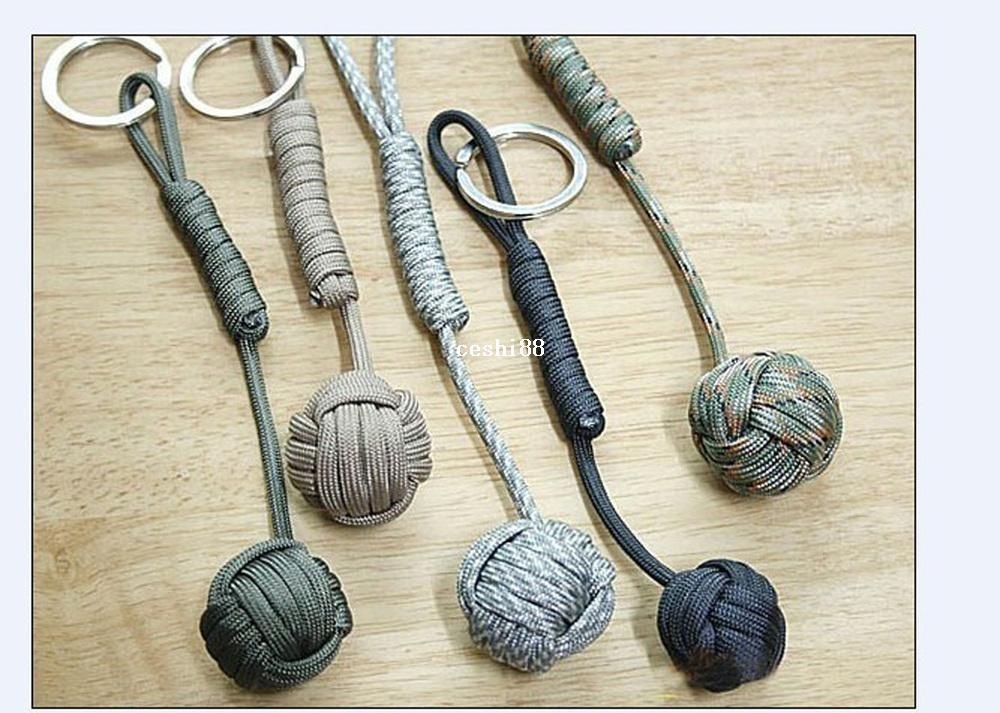 Key Lanyard 550 Paracord Monkey Fist 3 4 Steel Self Defense Core Keychain  Password Management Customized Keychains From Ceshi88 f8b179fd1240