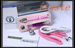 Wholesale Pass Through Vv - 100%Original INNOKIN iTaste CLK Kit 800mAh iClick Pass Through Rechargable Variable Voltage VV Battery Mod iClear 16D Duai Coil Atomizer