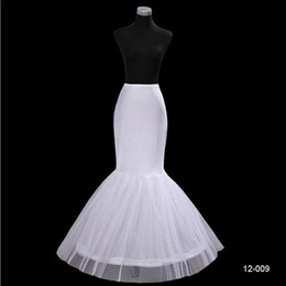 Wholesale Mermaid Style Petticoats - 2014 Mermaid 1 Hoop 3 Layer Petticoats Fashion Top Quality Trumpet Underskirt Slip Cheap Popular Style for Woman 12009