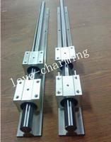 Wholesale Slide Cnc - 6pcs SBR12 L = 400 500 600mm linear rail guide +12pcs SBR12UU block bearing for cnc