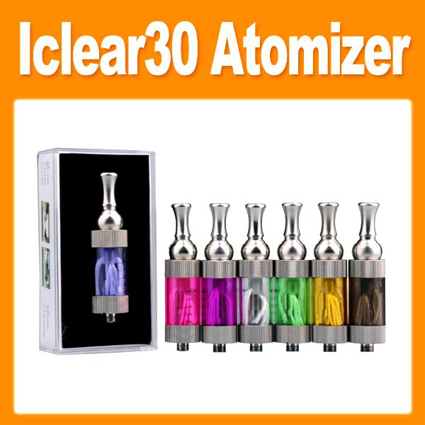 Iclear 30 clearomizer atomizer with replaceable coil long wick for ego t,ego twist battery e cigarette iclear30 atomizer 0203079