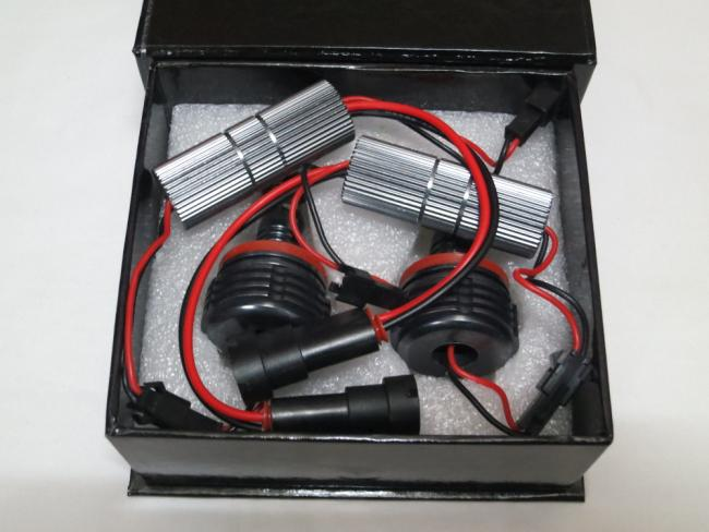 H8 20W CREE 4-LED*5w Angel Marker Eyes Kits Canbus Error Free Halo Bulb Headlight Xenon White For BMW E90 E92 M3 E60 E70 X5 E71 X6