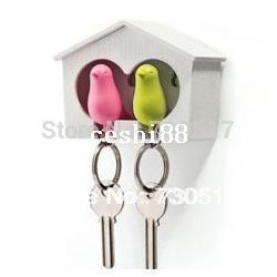 In lega di zinco Coppia Birds portachiavi e portachiavi per Coppie Promozioni fidanzata regalo regalo New House Decoration