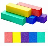Wholesale Sponge Buffer Sanding Block - Wholesale - Professional Sponge Sandpaper Buffer Block Buffing Sanding Filing Nail Art Tools Nail Files High Quality ZVW*1