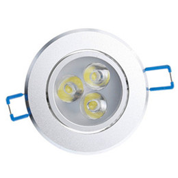 Wholesale 5w Led Lighting Fixtures - LED Downlights 3W 4W 5W 7W 9W 12W LED Downlight LED Lights Epister Ceiling Light AC85-265V With Power Fixture Ceiling Downlights Warm White