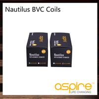 ingrosso aspirare il doppio serbatoio della bobina-Aspire Nautilus BVC Bobine Testa inferiore Bobina verticale Per Aspire Nautilus Mini Nautilus Sostituzione Bobine doppie