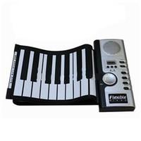 enrollar teclados de piano al por mayor-Portátil 61 Teclas Electrónico Digital Roll Up Roll-Up MIDI Soft Piano Keyboard
