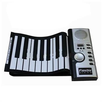 top popular Portable 61 Keys Electronic Digital Roll Up Roll-Up MIDI Soft Piano Keyboard 2019