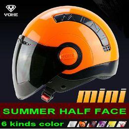 Wholesale New Helmet Summer - 2014 New arrival YOHE MINI Summer Half Face helmets Motorcycle helmet motorbike Electric bicycle helmet off road helmet ABS Size M L XL XXL