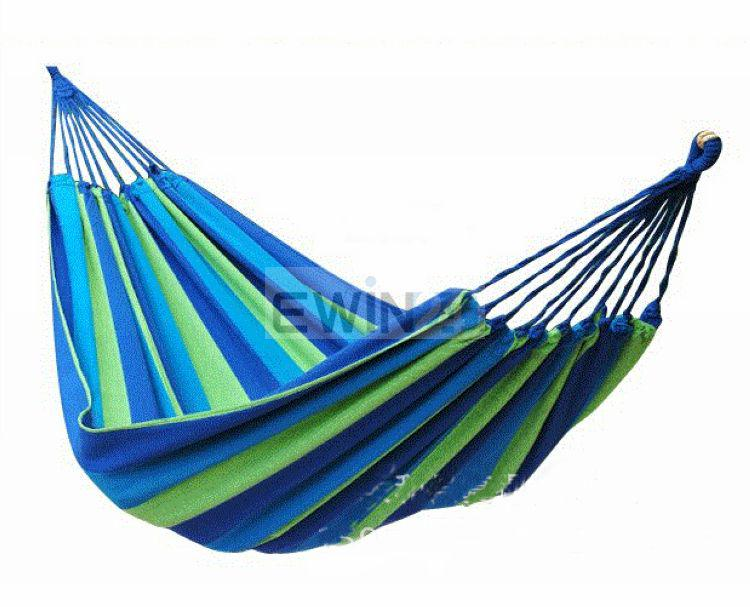 Trädgård Tjock Hängmatta Utomhus Kanvas Fritid Camping Stripy Swing Bag Outdoor High Quality / massor bekväm
