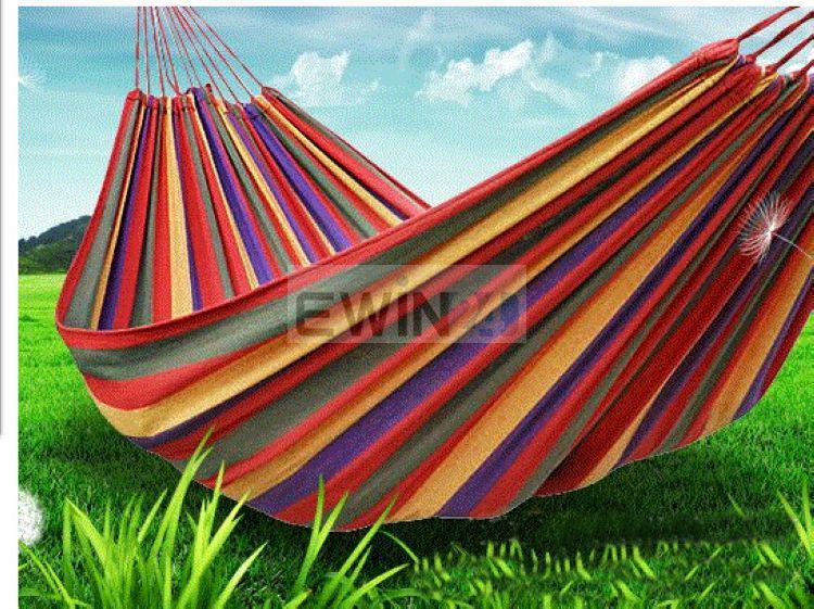 Tuin Dikke Hangmat Outdoor Canvas Leisure Camping Stripy Swing Bag Outdoor Hoge Kwaliteit 30 stks / partijen Comfortabel