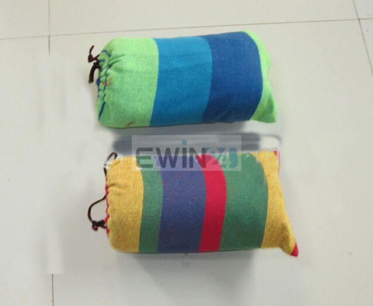 Jardin épais hamac Outdoor toile loisirs Camping Stripy Swing Bag extérieure de haute qualité / confortable
