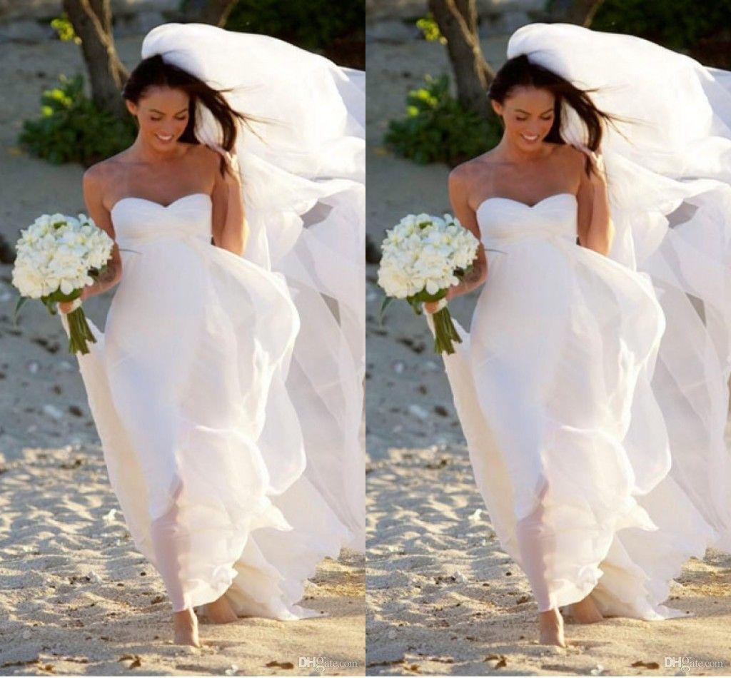 Dn Hot New Megan Fox Gorgeous Sweetheart Empire Chiffon Wedding ...
