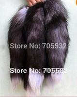 "Wholesale Fox Handbags - Big Fox Fur Tail Keychain Tassel Bag Handbag Pendant Accessory 16"" Black"