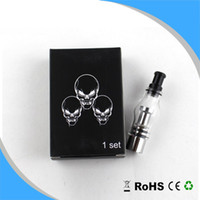 Wholesale dry herb vaporizer set - Cheapest Top Quality Two Coil Head Glass Tank Atomizer Bulb Vaporizer Wax Concentrate Dry Herb Bulb Clearomizer Set 2 Coil Head Retail Box