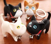 Wholesale rings kate - Wholesale 12pcs lot Birthday gift kate cat couple key chain small keychain ring Fashion Jewelry