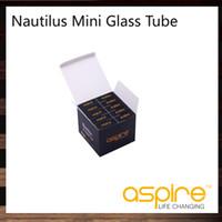 ingrosso sigaretta rosa e liquida-Aspire Nautilus Mini Mini Tube per Aspire Mini Nautilus Airflow Control Serbatoio di vetro Aspire Pyrex Tube per Mini Nautilus Tank