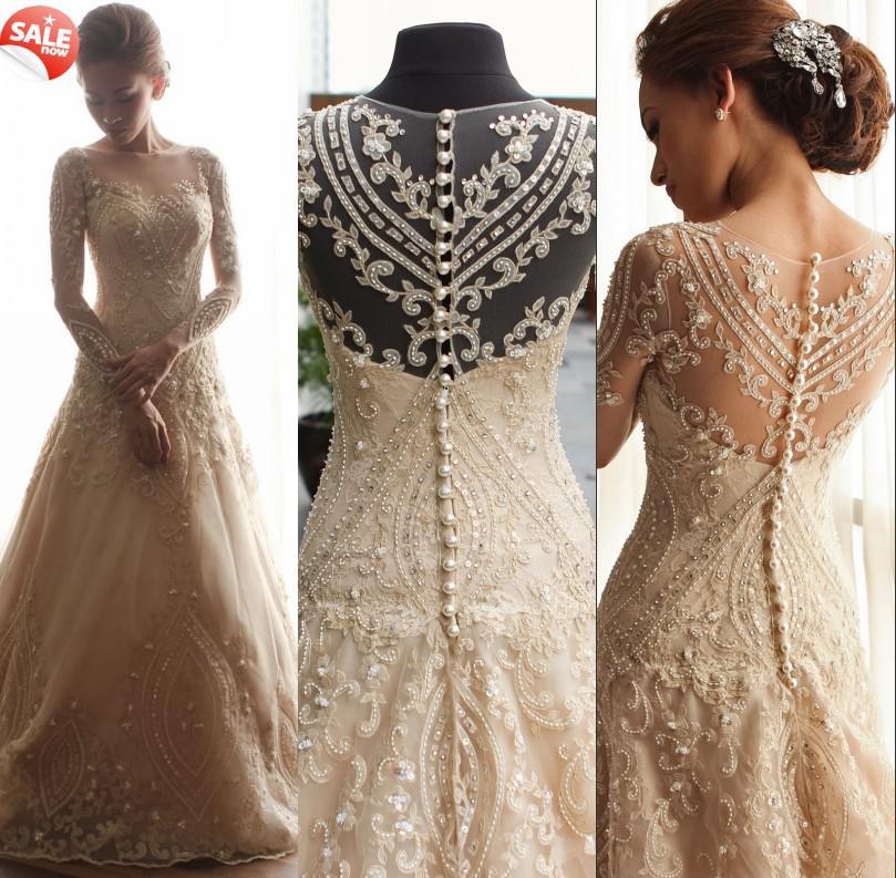 Vintage Wedding Dress Buttons On Back
