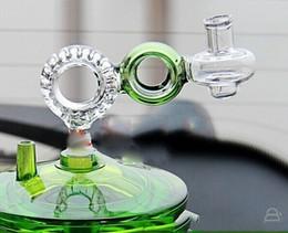 pentole in vetro per la cottura Sconti pentola di vetro a forma di otto / tubi di acqua in vetro fatti in casa accessori accessori per fumatori Doppio filtro funghi pentola