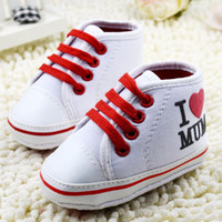 Wholesale I Love Mum - I love MUM children shoes infant shoes baby toddler shoes baby soft bottom shoe boys girls casual shoes 6pair lot SM399