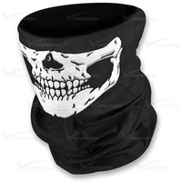 Wholesale Scarf Silver Tube - LINGSHANG Motorcycle Biker Face Mask Neck Tube Scarf Wholesale Skull Design Multi-Function Bandana Factory supplier with small gift