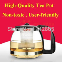 Wholesale Kettle Teapot Free Shipping - Wholesale-OP-Hot sale 700ml+Sale price+Free shipping Glass Tea Kettle, stainless steel infuser sieve glass teapot