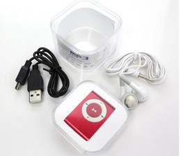 Promotion DHL 100pcs mini clip lecteur mp3 avec fente pour carte TF MP3 + USB + écouteurs + Box 3 options au choix ? partir de fabricateur