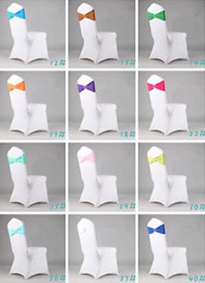 Fasce Spandex Avorio Sedia con diamante fibbia / copertura della sedia Sash / copertura della sedia di band Matrimoni Eventi Decoration