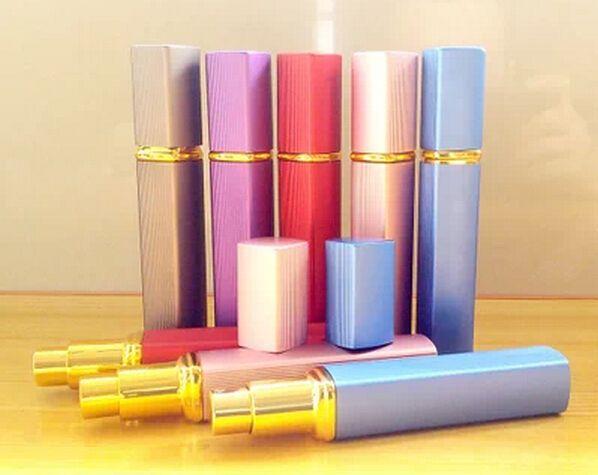 12ml 알루미늄 스프레이 병 향수 분무기 화장품 용기