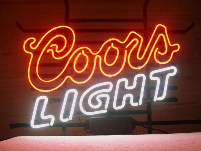 2019 New Coors Light Mountains Beer Real Glass Neon Light